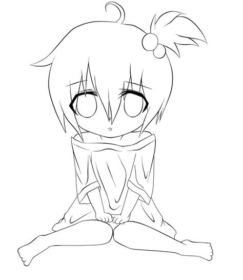 line up coloring page little anime girl line art pictures to pin on pinterest