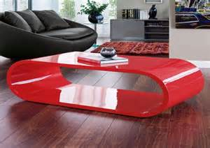 and modern red coffee table