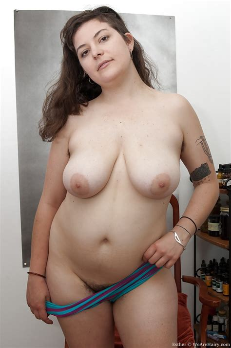Fatty Babe With Flabby Tits And Hairy Armpits Esther