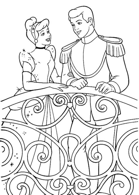 coloring pages of cinderella and prince charming cinderella and prince charming coloring pages printable