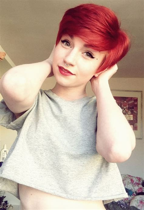 short red pixie hair colorful hair pinterest short