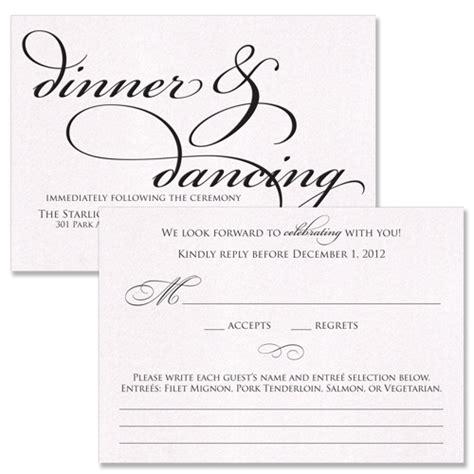 Wedding Reception Rsvp Card Wording
