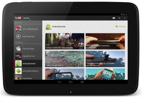 youtube app layout youtube app updated now features 10 inch tablet layout