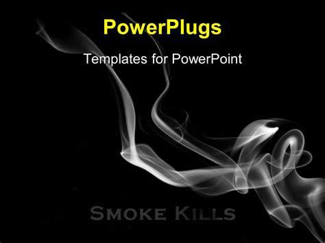 powerpoint template smoke flowing over a black background