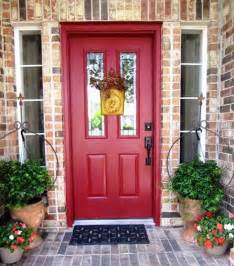 front door colors with brick home design ideas