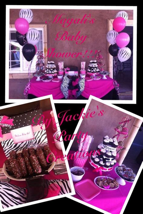 Pink And Zebra Baby Shower Ideas by Pink Zebra Shower Ideas Jackie S Creations Pink