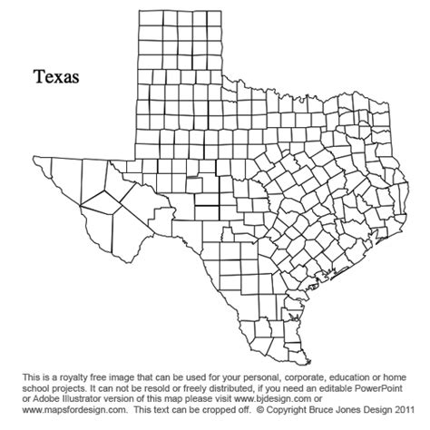 printable texas map south dakota to wyoming us county maps