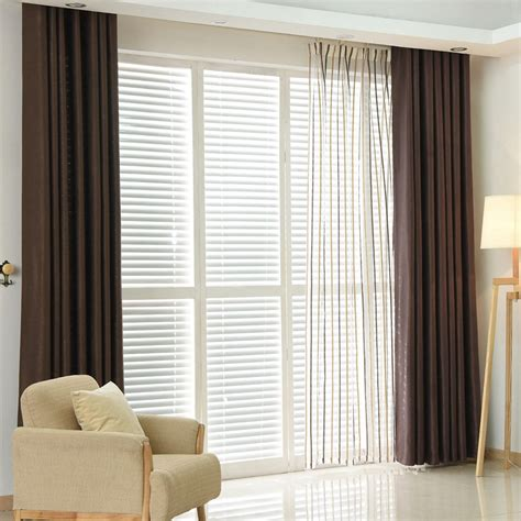 Shade Curtains For Living Room Plain Dyed Blackout Curtain Kitchen Door Window Curtains