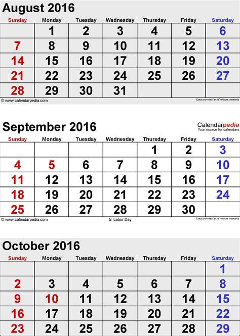 Calendar 2017 October Thru December September Thru December 2016 Calendar Calendar September