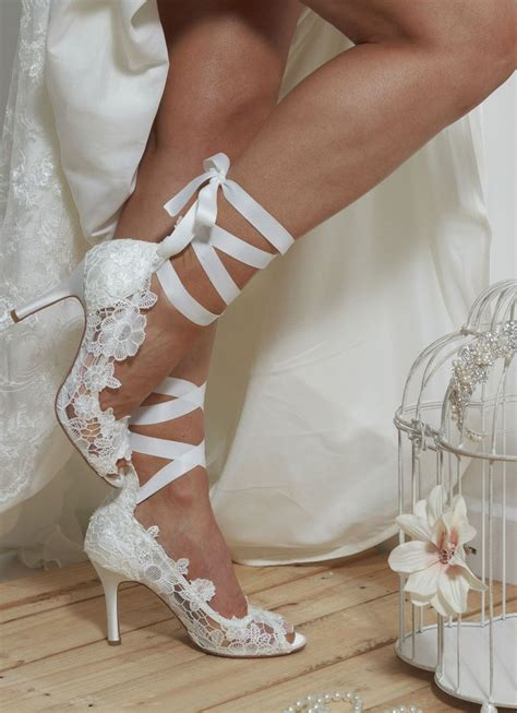 Schuhe Braut Vintage by Ivory Bridal Shoes Vintage Lace 3 5 Heel Padded
