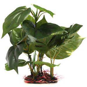 Artificial Fake Plant Green Plastic Monstera Aquarium Fish Tank Decor
