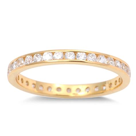thin eternity ring new 925 sterling silver stackable band
