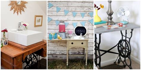 repurposed sewing table ideas sewing table makeovers