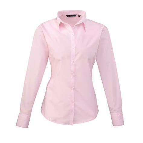Ft 1638 Blus Lengan Panjang premier poplin sleeve plain colour fitted blouse shirt ebay