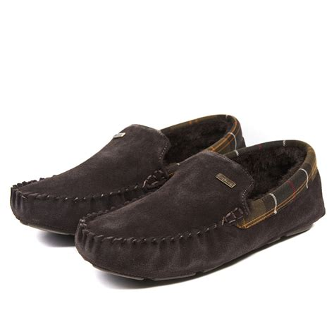 mens moccasin slippers uk barbour monty moccasin mens slippers footwear from cho