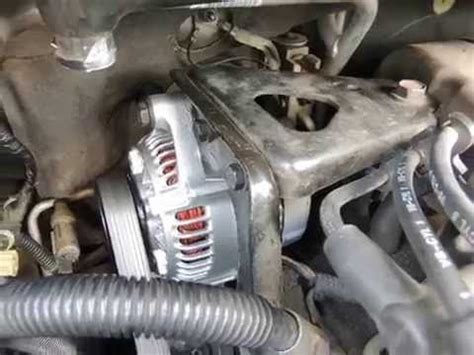 3.3l dodge caravan alternator change youtube