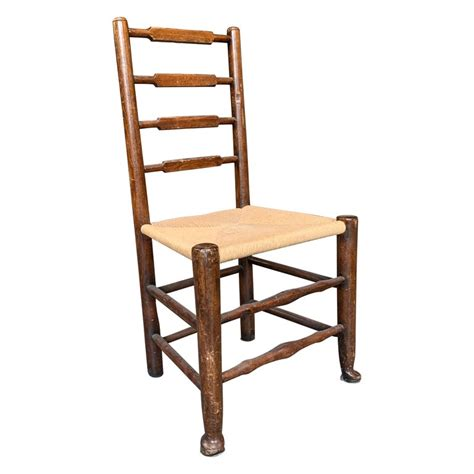 french provincial rush seat ladder  dining chair