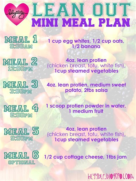 Easy Detox Food Plan by Heyy Ber Back Home Mini Meal Plan I Would Probably Cut