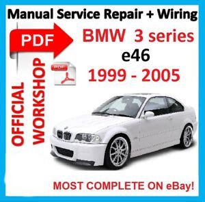 bmw e46 1999 2005 workshop service repair manual download downloa factory workshop manual service repair for bmw series 3 e46 m3 1999 2005 wiring ebay