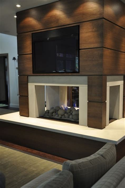 modern fireplace modern living room detroit by
