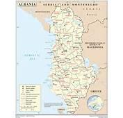 Carte Albanie  E Evasion – Voyage