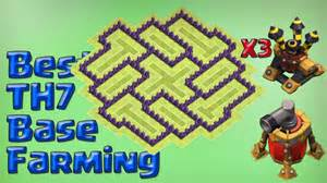 Town hall 7 farming base 2016 new update 3 air defenses youtube