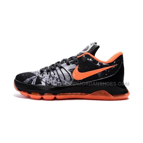 nike kd shoes nike kd 8 shoes on sale black orange grey price 88 00