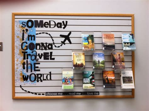 library book themed displays travel theme fiction display someday i m gonna travel