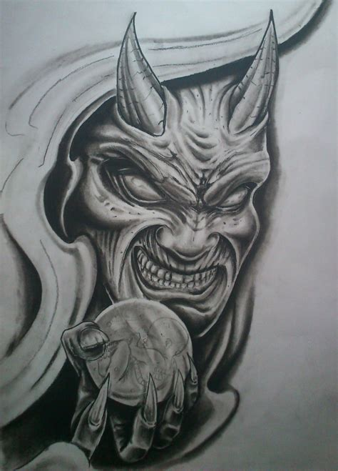 evil demon tattoo designs evil drawing at getdrawings free for personal