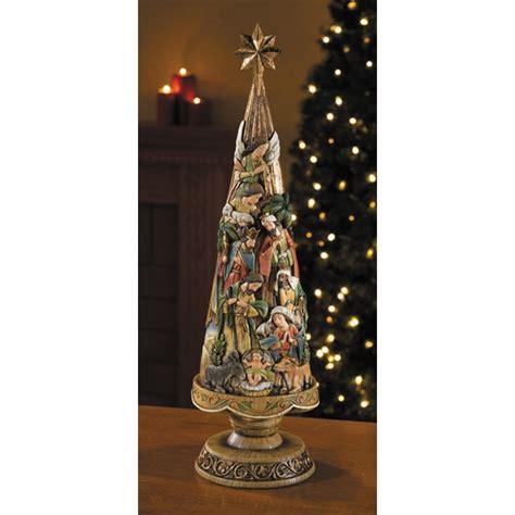 nativity christmas tree figurine 20 quot the catholic company