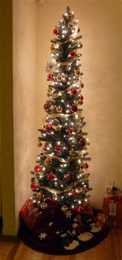 decorating skinny christmas tree sonoma slim artificial pencil tree