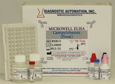 Stool Eia by Cylobacter Elisa Kit Fecal 818 591 3030