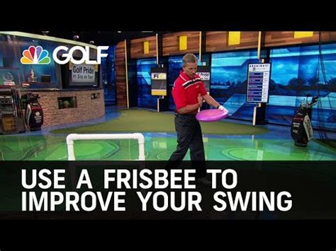 improve your swing frisbee drill to improve your swing golf channel youtube