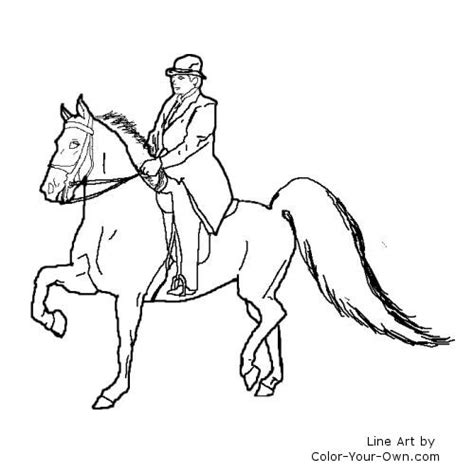 free coloring pages of horse saddle