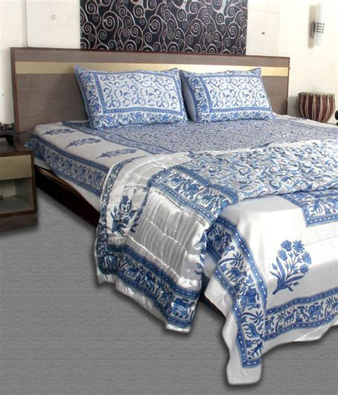 jaipur comforter jaipur textile hub cotton double bedding set white and