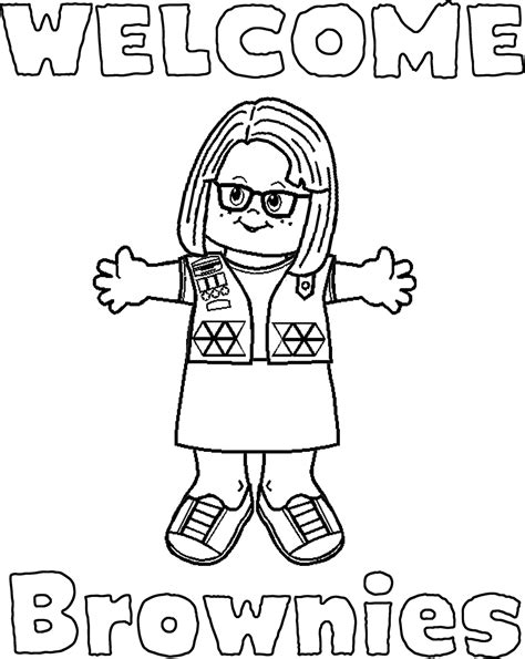 girl scout brownie coloring pages 22625 bestofcoloring com