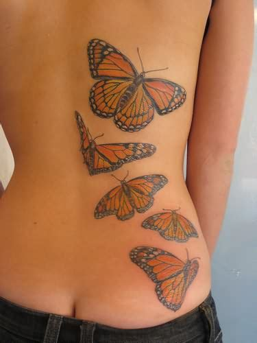 butterfly tattoo on your back pink butterfly tattoo on back