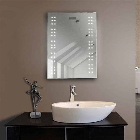 hotel bathroom mirrors hotel led backlit bathroom lighted mirror with magnifying
