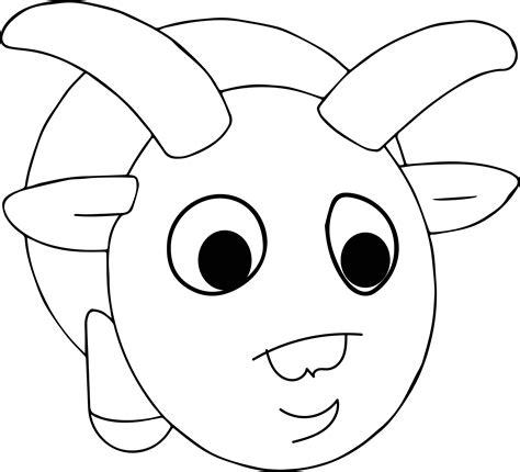 ram coloring page printable cartoon ram animal coloring page wecoloringpage