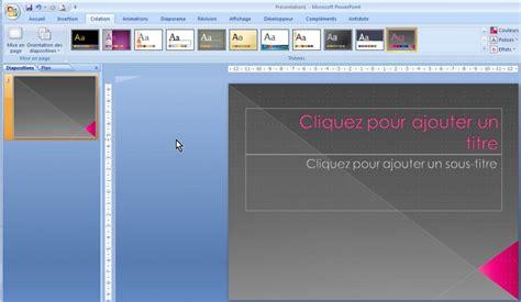 les themes de powerpoint 2007 powerpoint 2007 faites votre powerpoint 224 l image de