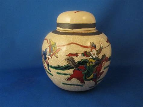 what is a ginger jar oriental japanese warrior ginger jar now and then antiques