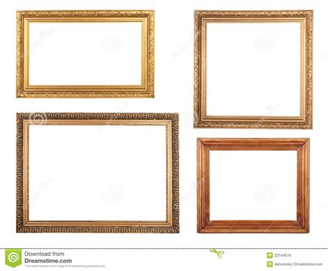 cornici anticate four antique picture frames royalty free stock image