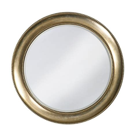 round silver bevelled mirror shop dillon saturn burnished silver leaf beveled wall mirror at lowes