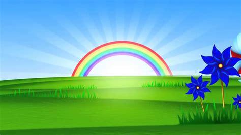 Imagenes De Paisajes Animados | fondo animado paisaje arco iris full hd animate