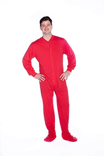 knitted onesie for adults big pjs cotton jersey knit footed onesie