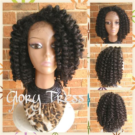 crochet braids hair for sale on sale bantu knot out crochet braided lace front wig