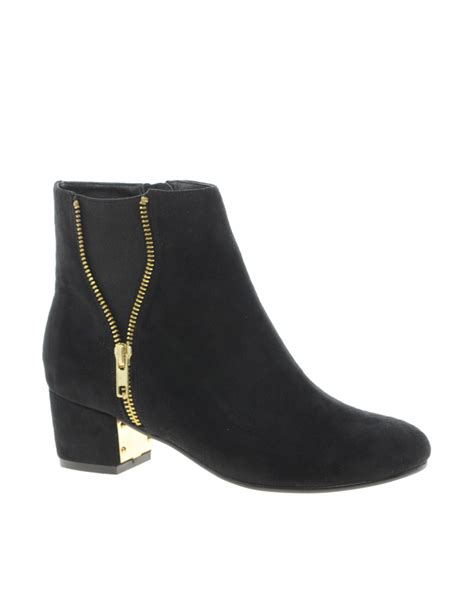 Ankle Zip by River Island Zip Side Ankle Boots In Black Lyst