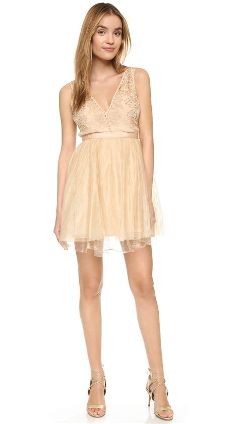 Dejavu Mini Gold Free Deja Vu Mini Dress In Pink Lyst