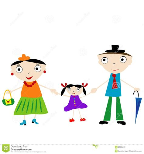doodle family doodle family stock photos image 23500513