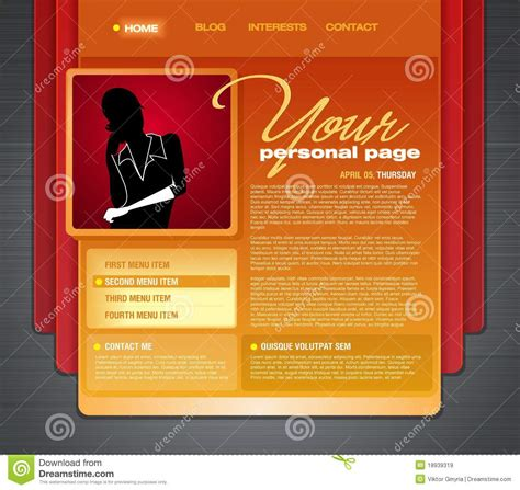 personal blog web page template royalty free stock images